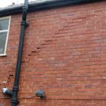 Signs of subsidence in a property